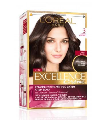 L'Oreal Paris Koyu Kestane Saç Boyası - Excellence Creme 3