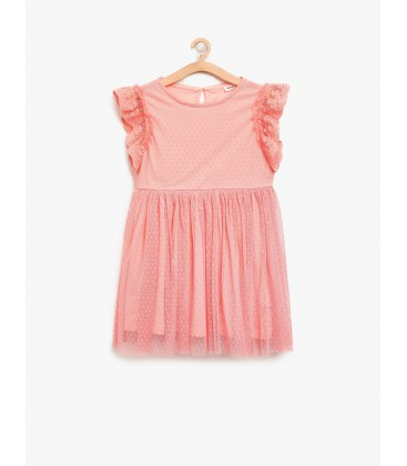 Koton Tül Detaylı Elbise 8YKG87930OK402