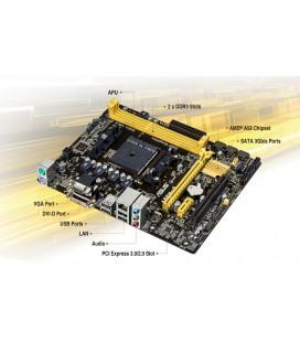 ASUS A58M-E A58 DDR 3 mATX GLAN SATA3 COM DSUB DVI Anakart