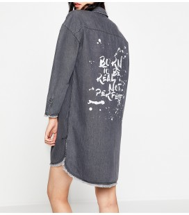 Koton Kadın Yazılı Baskılı Elbise 8KAK87134MDEA5