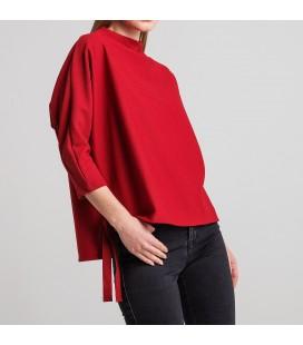 Koton Kadın Bordo T-Shirt 8KAK13668EK480