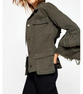 Koton Jeans Kadın Haki Ceket 8KAK53877QW801