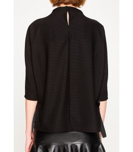 Koton Kadın Yüksek Yaka T-Shirt 8KAK13668EK999