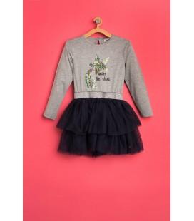 Koton Tül Detaylı Elbise 8KKG87887GK023