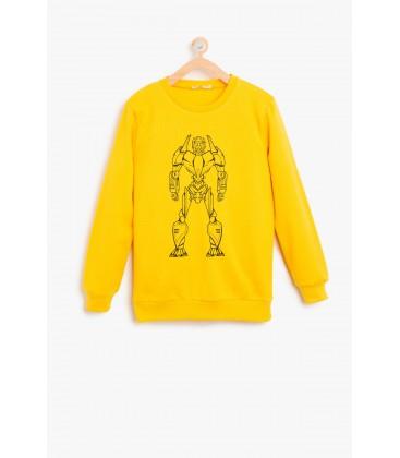 Koton Çocuk Baskılı Sweatshirt 8KKB16580OK151
