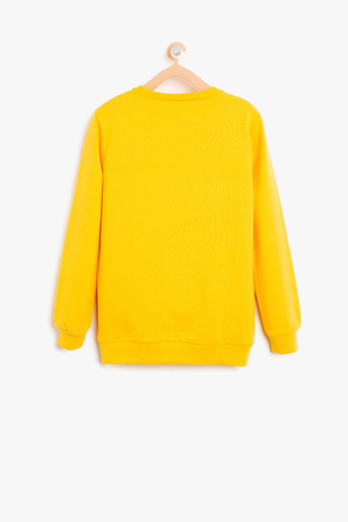 12f709e94261a Koton Çocuk Baskılı Sweatshirt 8KKB16580OK151