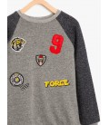 Koton Çocuk Arma Detay Sweatshirt 8KKB16904OK023