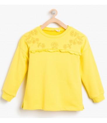 Koton Kız Çocuk İşlemeli Sweatshirt 8KKG17038OK151