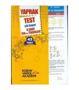 8. Sınıf Fen ve Teknoloji Yaprak Test Koray Varol Akademi
