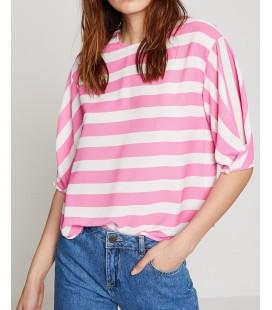 Koton Kadın Renk Bloklu Bluz 8YAK68160PWBT7