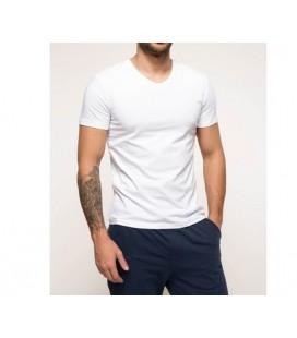Defacto Slim Fit V Yaka Erkek Tişört I2761AZ