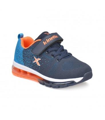 Kinetix Golda Lacivert Koyu Mavi Turuncu Erkek Çocuk Koşu Ayakkabısı