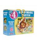 Diytoy Puzzle Süper Renkli Hayvanlar 4'lü