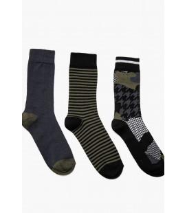 Koton Erkek Siyah 3'lü Erkek Çorap 9KAM82102AA