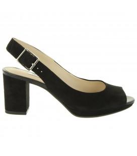 Clarks Kelda Spring Black Suede Kadın Topuklu Ayakkabı