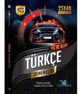 YGS Türkçe Hız ve Renk Denemeleri 25X40