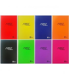 Keskin color Free Plastik Spiralli Kareli Defter A4 60 yaprak 320422-99