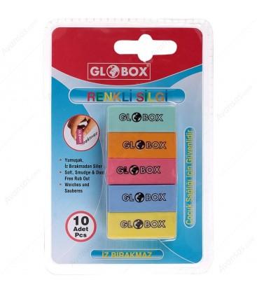 Globox  Renkli Silgi 10'lu