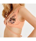 Oxxo Kadın Turuncu Desenli Büstiyer OX-FLORENTIA