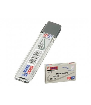 Mikro 24 Paket M-600 Min 0,9 Mm Otomatik Kurşun Kalem Ucu 2B 60 Mm