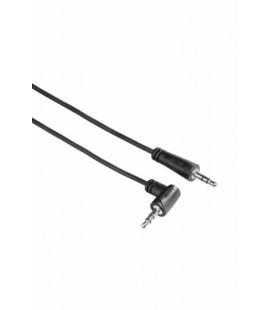 Hama 3.5mm - 3.5mm 90°, Stereo Siyah 1S 0.5m HM-122311