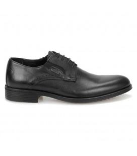 Mercedes Nereo Siyah Erkek Deri Ayakkabı