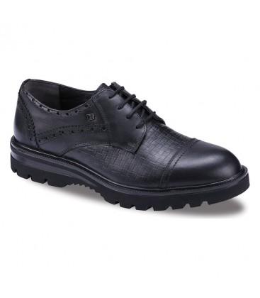 JUMP Erkek Siyah Deri Ayakkabı 16423