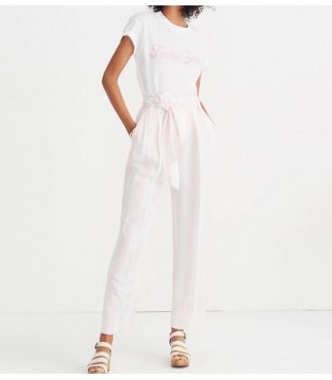 Striped Paper-Bag Bayan Pantolon J2438