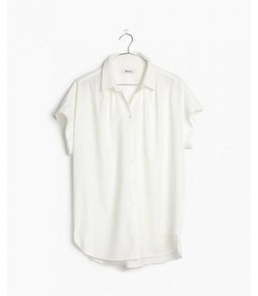 Madewell Kadın Beyaz Kısa Kollu Gömlek G0212