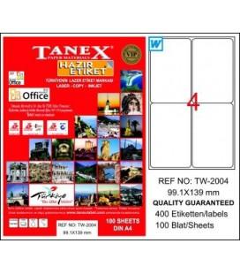 Tanex Etiket 99.1 x 139 mm Tw-2004 Beyaz Sevkiyat ve Lojistik Etiketi