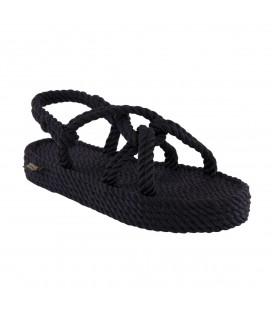Nomadic Republic Bora Bora Platform Halat & İp Kadın Sandalet - Siyah