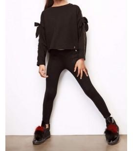 Tyess Kız Çocuk Siyah S-Shirt 18FW0TJ4408