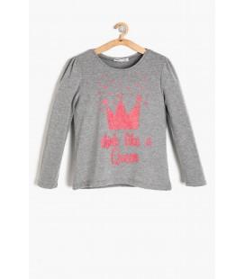 Koton Kids Gri Kız Çocuk T-Shirt 9KKG17516OK045