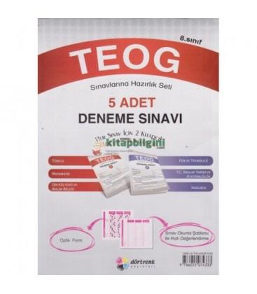 Teog Sınav Hazırlık Seti 5 Adet Deneme Sınavı - Dörtgen Yayınları