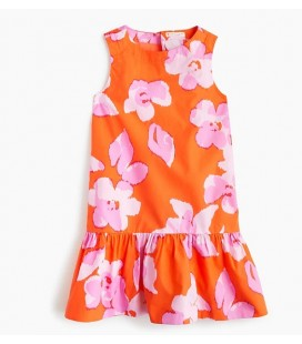 J.Crew Çiçek Desenli Kız Çocuk Elbisesi H9176