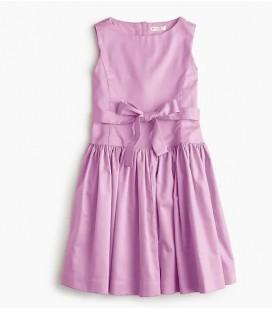 J.Crew Kız Çocuk Kravatlı Bel Elbise H2044