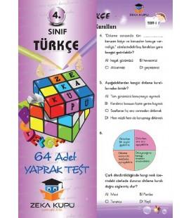 4.Sınıf Türkçe Yaprak Test Zeka Küpü