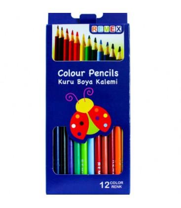 Remex Kuru Boya Kalemi 12 Renk