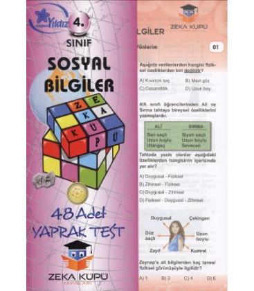 4 Sınıf Sosyal Bilgiler Yaprak Test Zeka Küpü