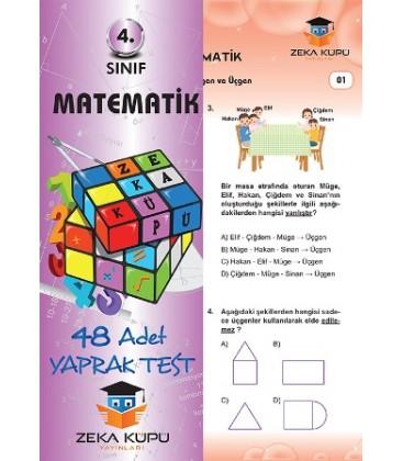 4.Sınıf Matematik Yaprak Test Zeka Küpü