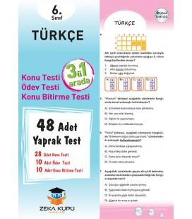 6.Sınıf Türkçe Yaprak Test Zeka Küpü Yayınları