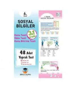 6. Sınıf Sosyal Bilgiler Yaprak Test Zeka Küpü Yayınları