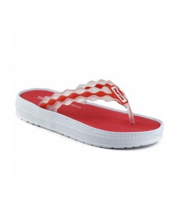 Gezer Kadın Islak Zemin  Plaj Modelleri Kırmızı 08473