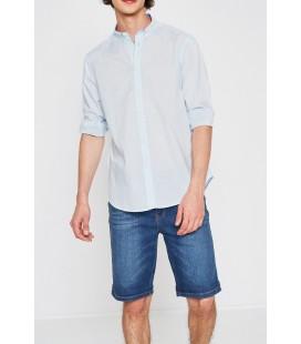 Koton Erkek Klasik Yaka Gömlek Mavi 7YAM62123KW601