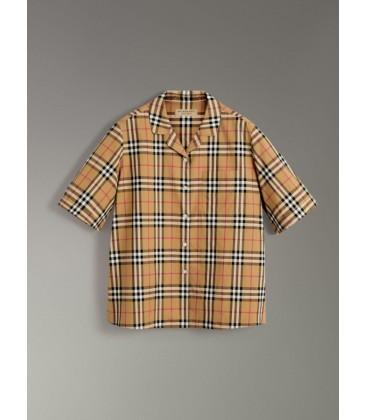 BURBERRY Kısa Kollu Vintage Onay Gömlek
