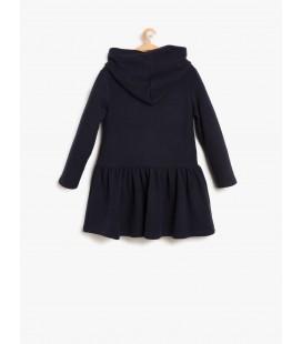 Koton Kapüşonlu Elbise Lacivert 8KKG87885GK721