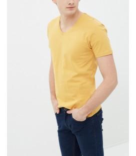 Koton V Yaka T-Shirt Hardal 7YAM12138LK994