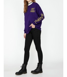 Koton Kadın Cep Detaylı Pantolon Siyah 9KAK47556MW999