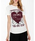 Koton Kadın Beyaz Yazılı Baskılı T-Shirt 9KAL11077JK