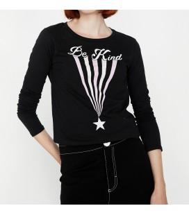 Koton Baskılı T-Shirt Siyah 9KAL11133JK999